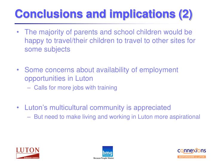 Conclusions and implications (2)