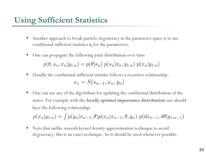 Using Sufficient Statistics