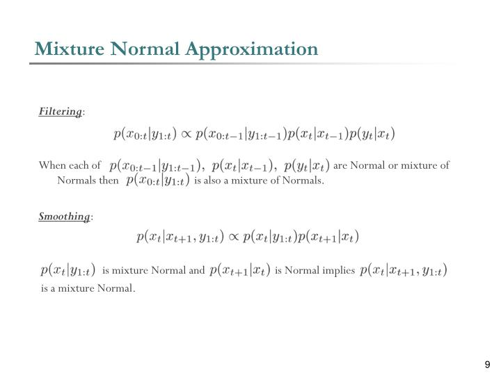 Mixture Normal Approximation