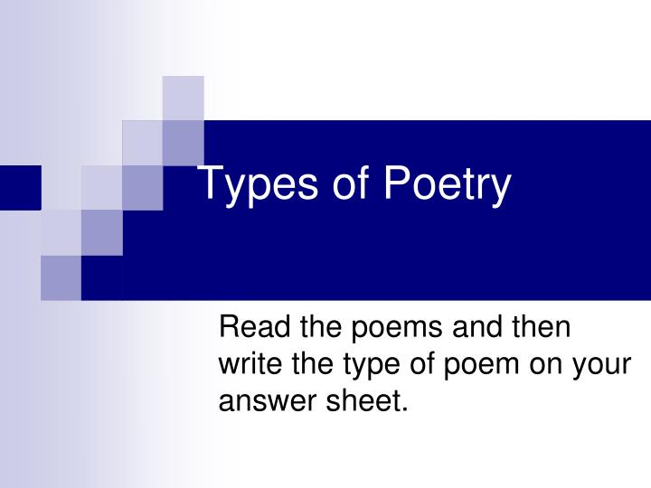types of poets Young writers have promoted poetry and creative writing within schools and poetry competitions for the past 19 years.