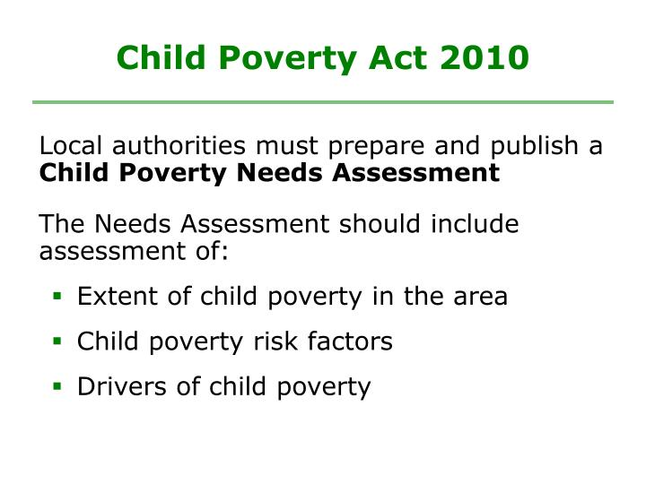 Child poverty act 2010