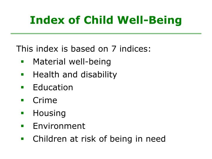 Index of Child Well-Being