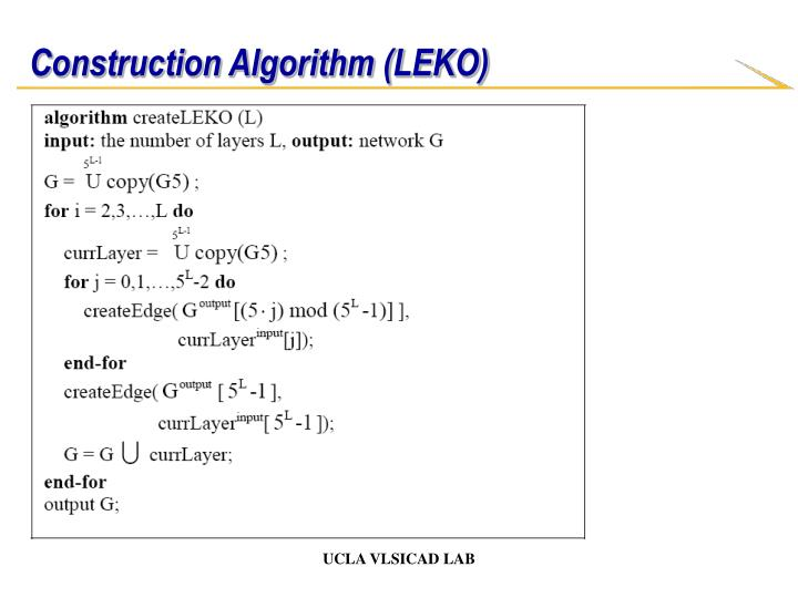 Construction Algorithm (LEKO)