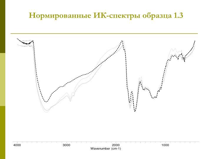 Нормированные ИК-спектры образца 1.3