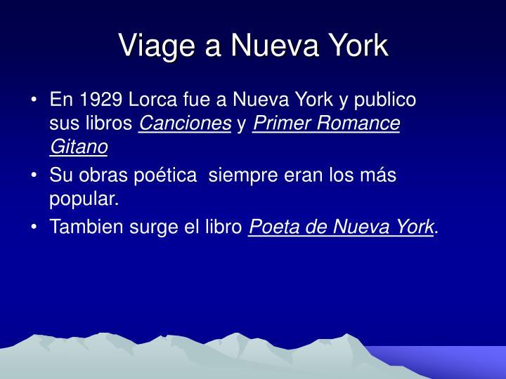 Viage a Nueva York