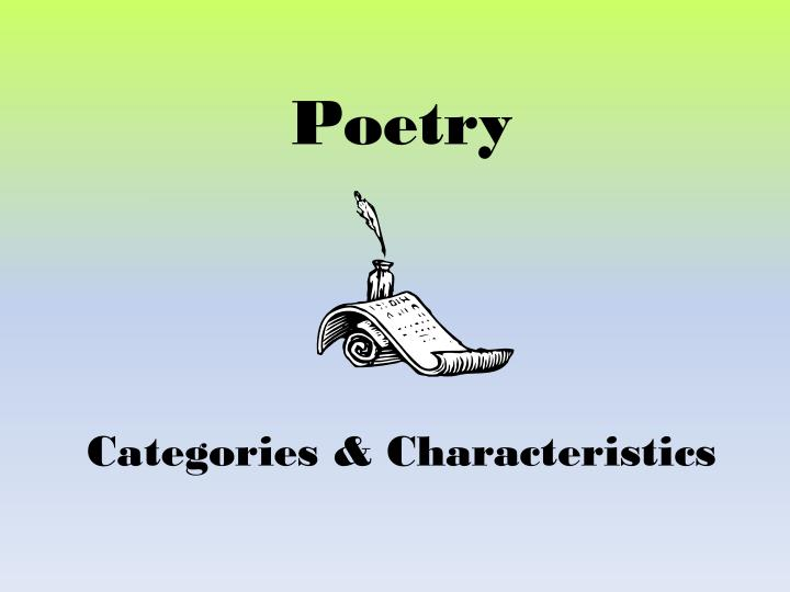 Poetry categories characteristics