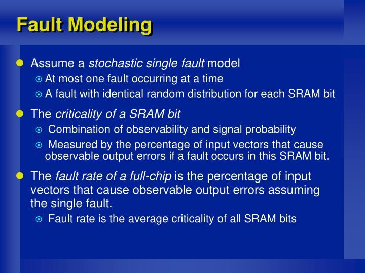 Fault Modeling