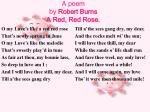 a poem by robert burns a red red rose
