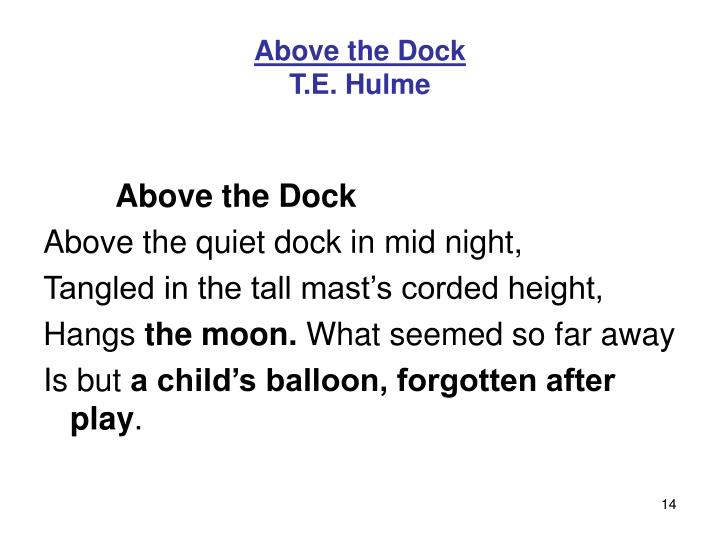 Above the Dock
