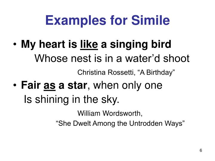 Examples for Simile