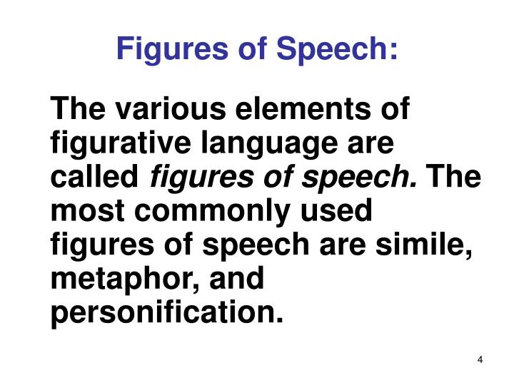 Figures of Speech: