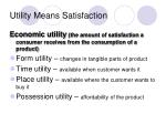 utility means satisfaction