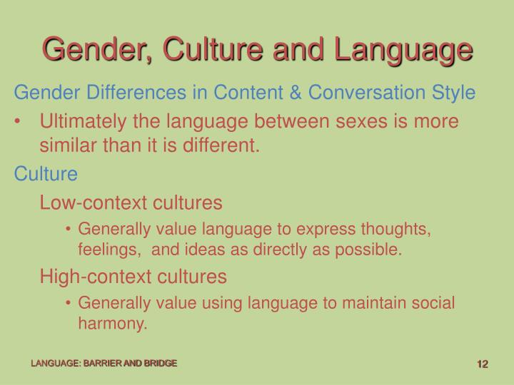 Gender, Culture and Language
