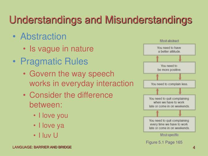 Understandings and Misunderstandings
