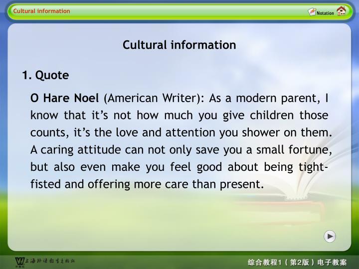 Cultural information 1