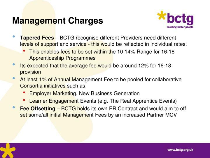 Management Charges