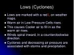lows cyclones