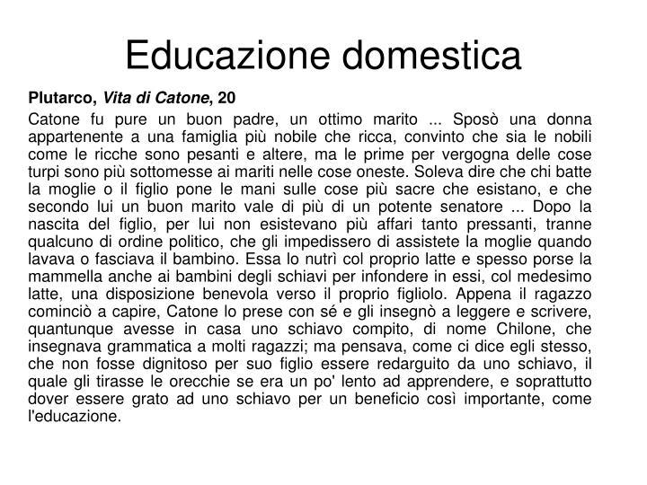 Educazione domestica