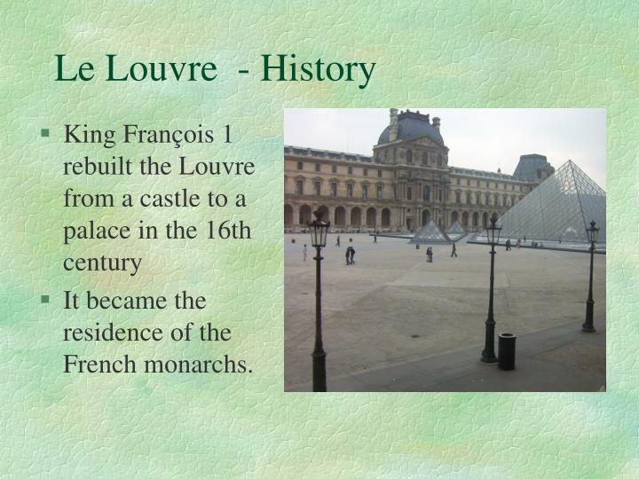 Le Louvre  - History
