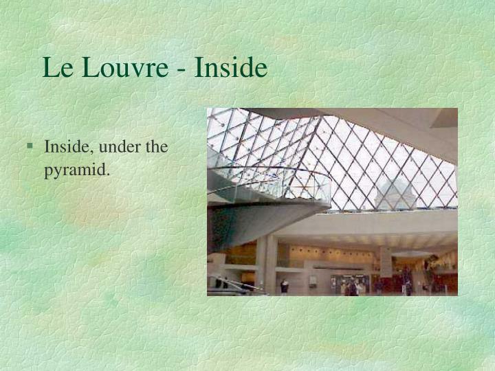 Le Louvre - Inside