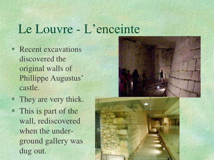 Le Louvre - L'enceinte