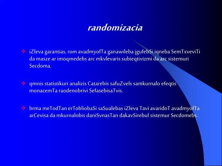 randomizacia