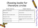 choosing books for literature circles