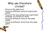 why use literature circles