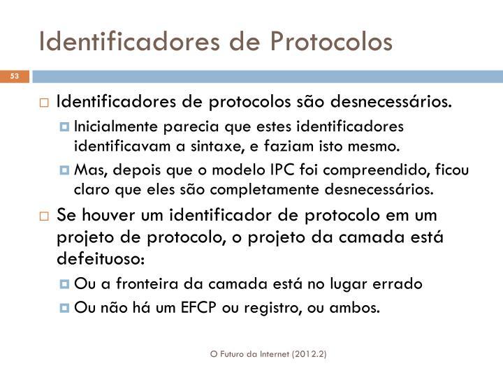 Identificadores de Protocolos