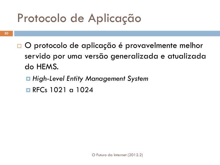 Protocolo de Aplicação