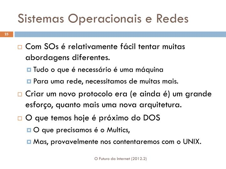 Sistemas Operacionais e Redes