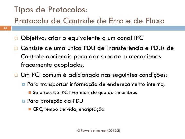Tipos de Protocolos: