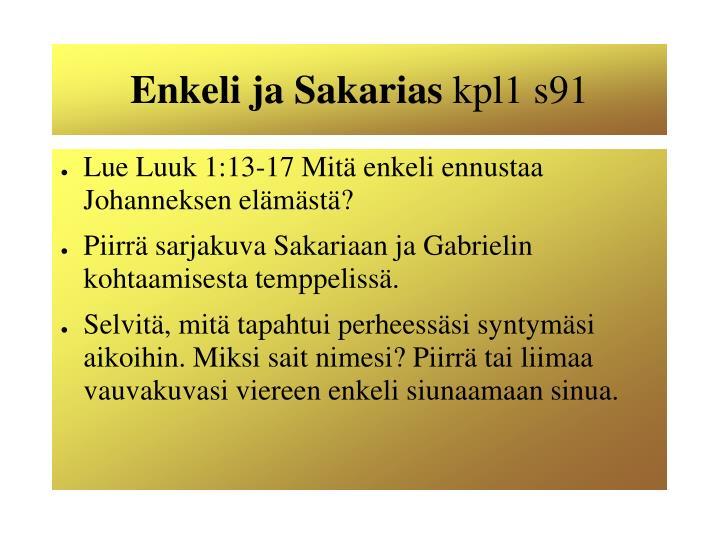 Enkeli ja Sakarias