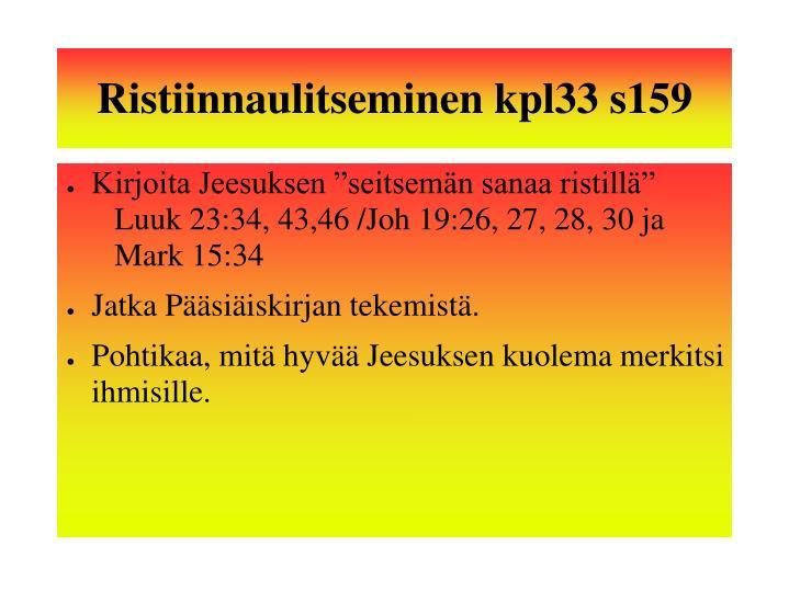 Ristiinnaulitseminen kpl33 s159