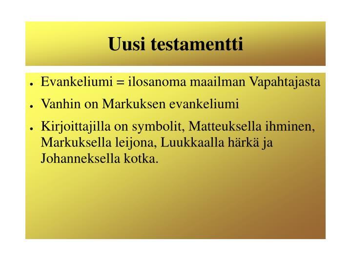 Uusi testamentti1