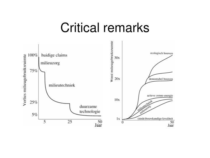 Critical remarks