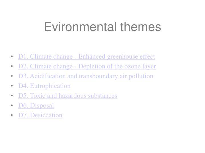 Evironmental themes