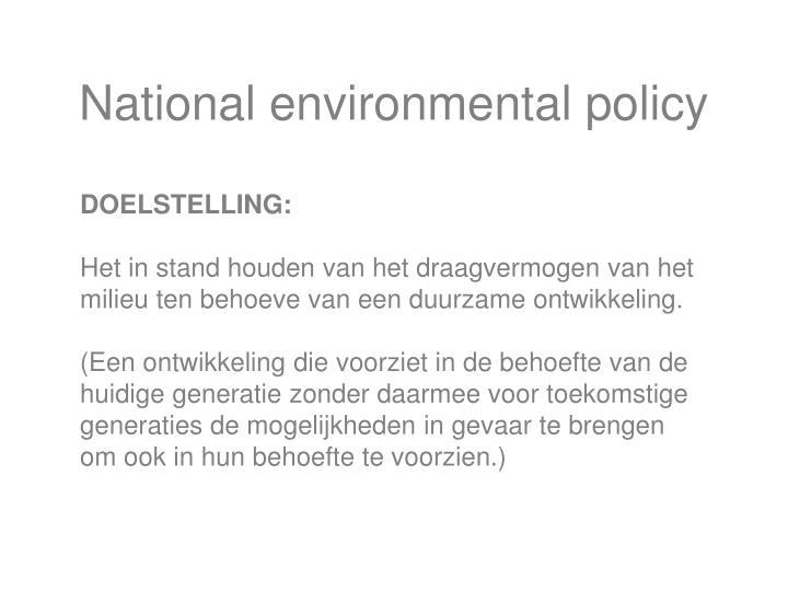National environmental policy
