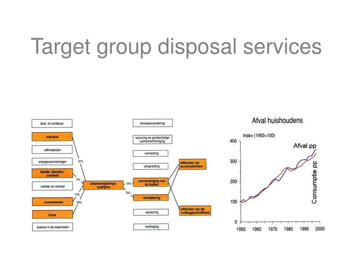 Target group disposal services