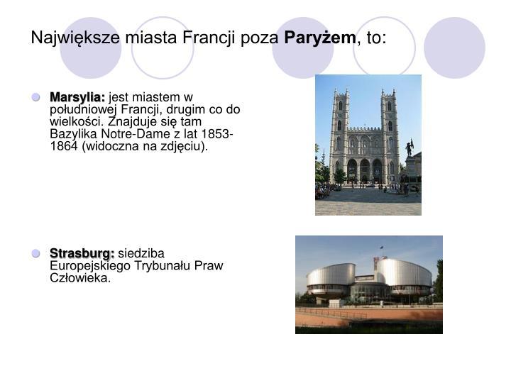 Największe miasta Francji poza