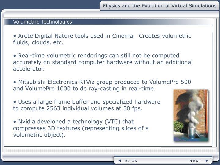 Volumetric Technologies