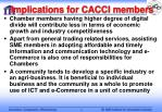implications for cacci members