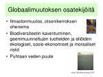 globaalimuutoksen osatekij it