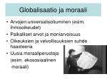 globalisaatio ja moraali