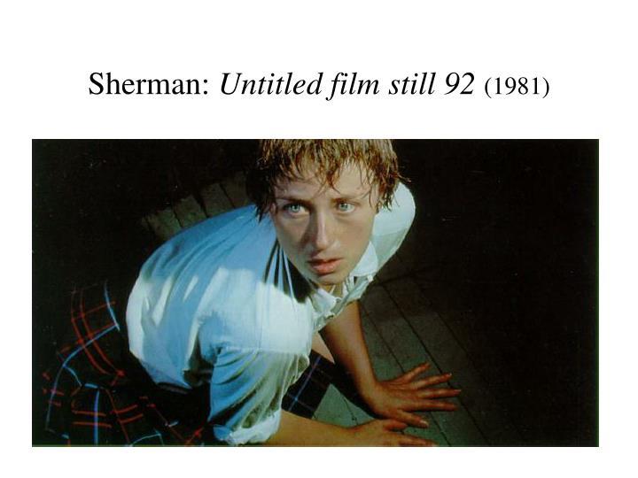 Sherman: