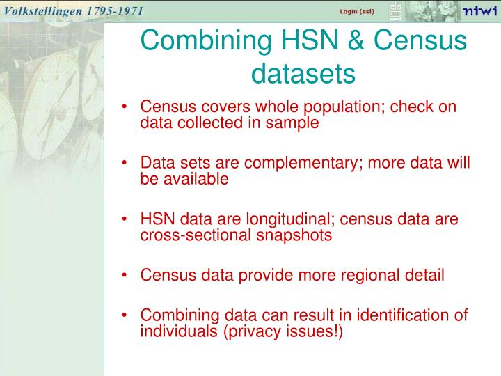Combining HSN & Census datasets