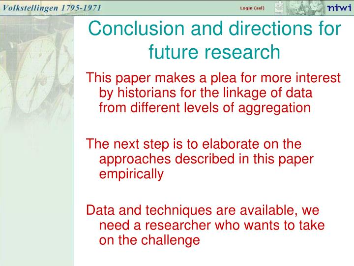 Conclusion and directions for future research