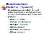 benzodiazepines sedative hypnotics