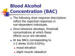 blood alcohol concentration bac