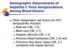 demographic determinants of hepatitis c virus seroprevalence among blood donors3